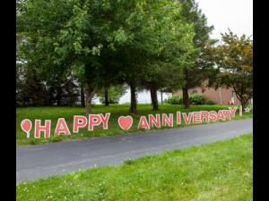 anniversary sign rentals